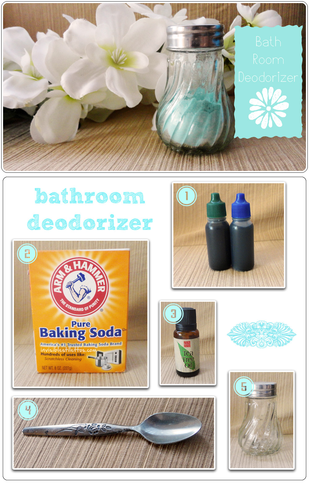 Homemade bathroom deodorizer spray