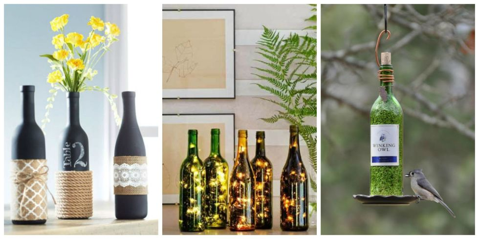 10 creative ways to reuse empty wine bottles pondic for Creative ideas for empty wine bottles