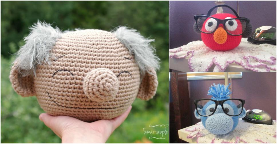 Awesome Crochet Muppet Glasses Holder Patterns Pondic