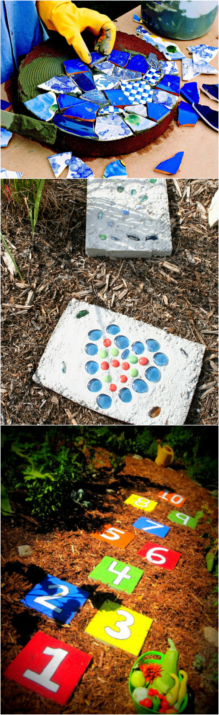 15 garden stepping stones that are easy to diy at home