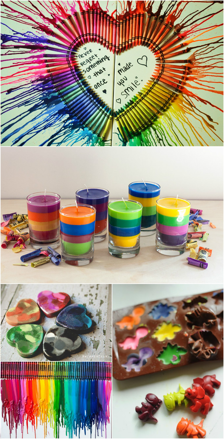 20 creative crayon art projects and crafts that are for Creative arts and crafts ideas