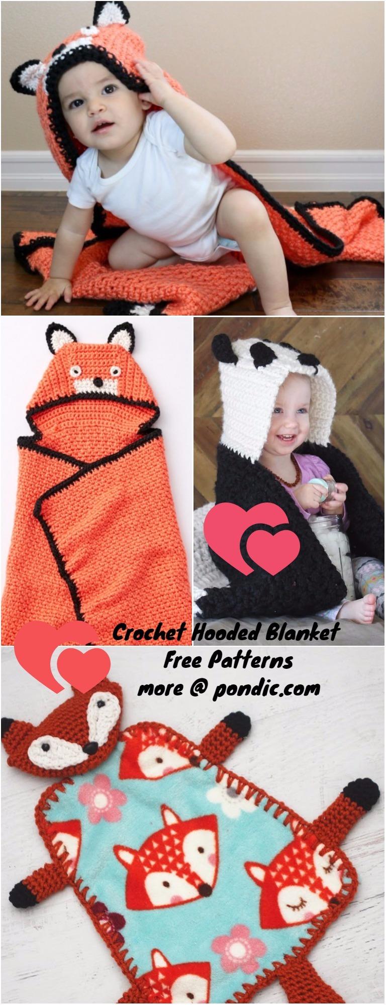 Crochet Hooded Blanket Free Patterns Pondic