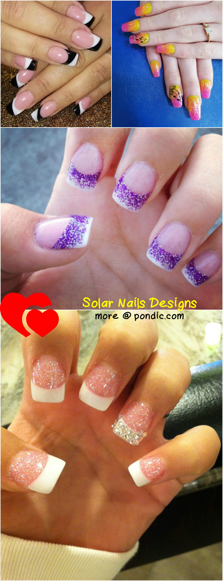 10 ideas and tutorials about solar nails designs pondic how to do solar nails prinsesfo Choice Image